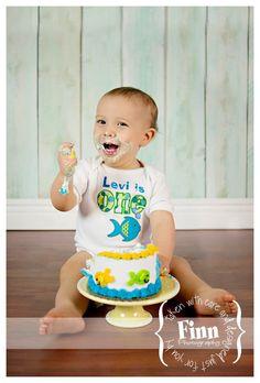 Personalized Boy's Fish Birthday Shirt. $23 on etsy