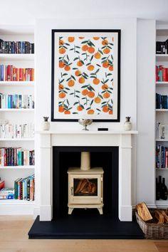 Clementines: Framing Wallpaper as Artwork