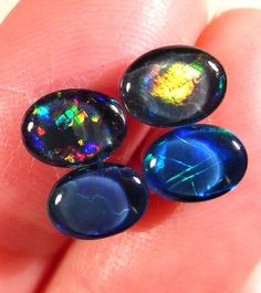Black Opals with Unique Fire