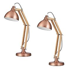 Manifest a modern aesthetic in your home with the graceful metallic tones of the Sleuth Desk Lamp, Copper (Set of from Amalfi. Bedside Lamp, Desk Lamp, Table Lamp, Buy Desk, Amalfi, Office Decor, Copper, Lighting, Modern