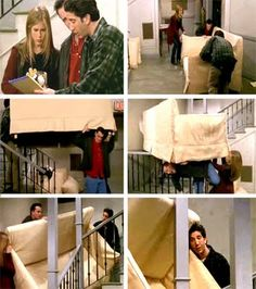 PIVOT!!  I think of this episode any time I hear the word pivot. I always want to yell it out just like Ross!
