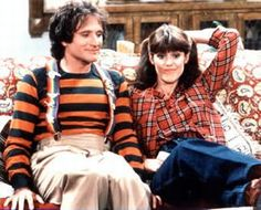 Mork & Mindy. Mork came blasting onto the small screen and filled it with his physical comedy and pure heart. Robin Williams put his comedy routine on parade everyweek. He was from another planet and at the end of each show, he summarized one classic thing he had learned about earthlings. Mindy was his touchstone and his love.