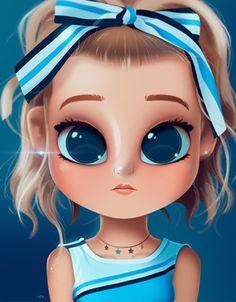 divino me envcanta super lindo Kawaii Girl Drawings, Cute Girl Drawing, Girly Drawings, Cartoon Girl Drawing, Cartoon Drawings, Cute Kawaii Girl, Cute Cartoon Girl, Anime Girl Cute, Cartoon Kunst