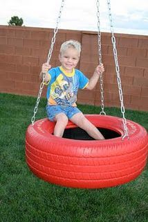 How to make a tire swing. I'm going to do this and paint it like a lady bug. Saw the lady bug on a different pin but the link was bad
