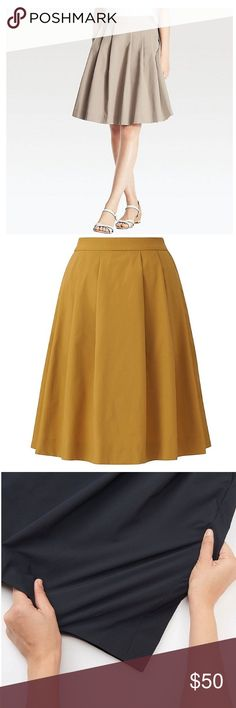 Flared out Skirt stretchy skirt Size XS,  S, M, L Skirt 100% polyester waistband 50% polyester 50% spandex. The first image is the only color I am selling. Looking exactly like the picture. This material is quick drying and usually sells for triple the price. It super comfortable if you sweat a lot of you want a material that will move with you. The silhouette is really feminine. This skirt is sporty undercover skirt. You will look chic but still have the right fabric to get going. I know…