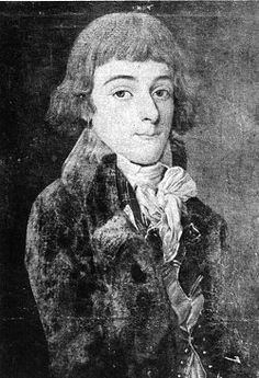Portrait generally said to be of the young Camille Desmoulins; however, the Carnavalet catalogue says it's Antoine Saint-Just.
