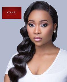 Bridal makeup and hair inspiration   Makeup: Beauty Boudoir  Hair: Charis Hair  : Atunbi Photography  #LoveweddingsNG #BridalMakeup