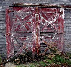 Old barn doors.
