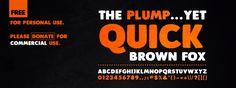 Plump Font | dafont.com