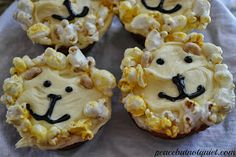 Easy decorated lion cupcakes