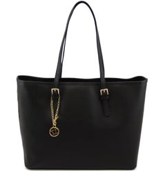 TL Bag TL141224 Saffiano leather shopping bag with two handles - Borsa shopping in pelle Saffiano con due manici