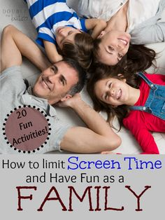 These are so fun! I need to be better at limiting screen time! 20 great activities for unplugging and strengthening your family.