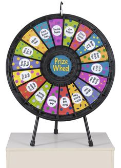Prize Wheel with 18 Slots & Printable Templates - Makes a Great Party Game or Addition to a Charity Auction!