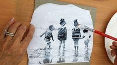 tuto diy fiche créative transfert image sur toile gel medium savoir et créer caen
