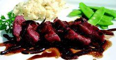 Recette - Noix de joue de porc confite, échalote au vinaigre balsamique et écrasé de céleri à la moutarde | 750g