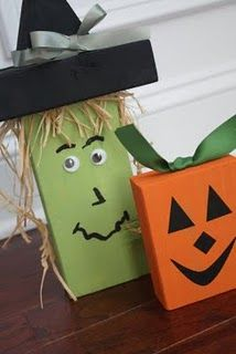 Blocks- so halloween is pretty much done for the year but this is such a cute idea