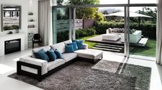I love this outdoor space - the rectangle footsteps, the raised deck, varying texture of the fence - LOVE it