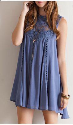 Beautiful Blue Lace Dress! theposhboutique.aradium.com
