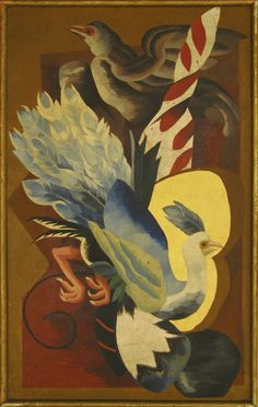 Tombstone:  	Panel, 1981-37-20, 1930s.  	Alexandra Exter .	1930s. 	Paint on wood panel.Smithsonian, Cooper-Hewitt. National Design Museum