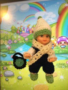 crochet clothes krissy outfit Dress Hat Under Wear Shoe  2 1/2 Baby Barbie Sis