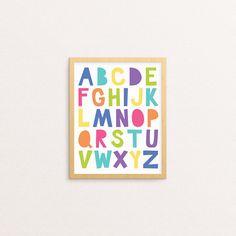Alphabet Poster Rainbow Alphabet Printable Alphabet Wall Alphabet Wall Art, Alphabet For Kids, Alphabet Print, Alphabet And Numbers, Alphabet Posters, Abc Nursery, Nursery Decor, Nursery Ideas, Printable Wall Art