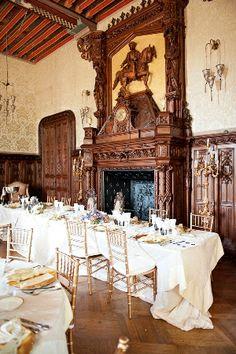 inside chateau challain for a chic chateau wedding #wedding