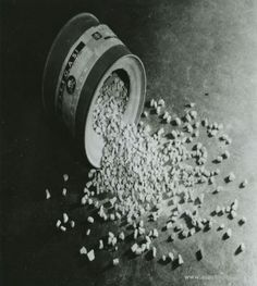 A can of Cyclon B used to mass killing of people in the gas chamber in KL Auschwitz-Birkenau.  (Auschwitz-Birkenau State Museum Archives)