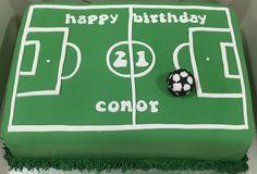 28 New Ideas Birthday Cake Male Guys - Birthday Cake Blue Ideen Birthday Cakes For Men, 8th Birthday Cake, 9th Birthday Parties, Cakes For Boys, Man Birthday, Football Birthday Cake, Birthday Nails, Football Pitch Cake, Football Cakes