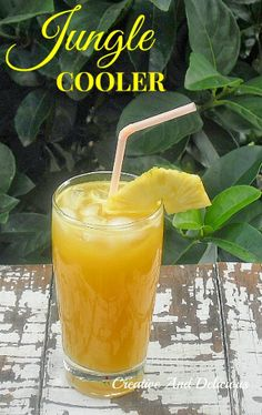 Tastes from the Jungle in this delicious, refreshing drink! #Drinks #NonAlcoholic #Beverages