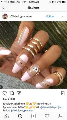 Wedding Nails Design, Acrylic Nail Art, Cool Nail Designs, Cartier Love Bracelet, Long Nails, Gel Nails, Valentines, Makeup, Earrings