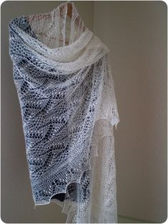 RESERVED Hand knitted Estonian lace stole cobweb by KnitANDlace,