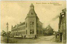 Enschede (1911) C.F. Klaarstraat - Hogere Burgerschool (HBS).