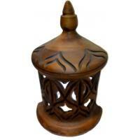 PORTA #VELA Ceramica Pared Marrón 30 x 15 cm (Tallado)