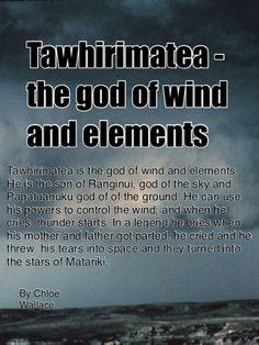 Kids describe Maori gods - Tawhirimatea