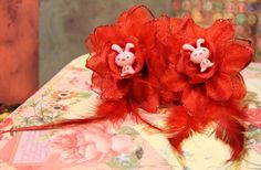 Pink Bunny Rockabilly Flower Harajuku Set Kawaii by FilthyCoffin, $7.00