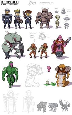 Added a Muton, Zombie and personal armour guy. Description from conceptart.org. I searched for this on bing.com/images