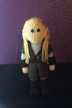 Crochet Legolas -Lord of the Rings/The Hobbit by Phattturtle on Etsy https://www.etsy.com/listing/218967008/crochet-legolas-lord-of-the-ringsthe
