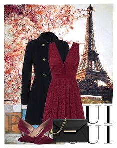 """""""PARIS"""" by kainat-sabir ❤ liked on Polyvore featuring Fay et Fille, Oui, Miss Selfridge, Free People, Rowen and MICHAEL Michael Kors"""