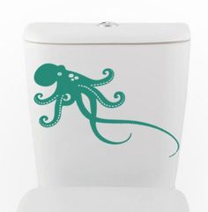 OCTOPUS DECAL- size good for toilet, car auto Home Decor, Vinyl Wall Art, Shower, Bathroom, Interior Design via Etsy