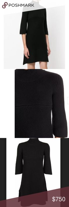 NWT🆕Stella McCartney🆕 Wool Sweater Dress Black fit and flare 100% Virgin wool rollneck knit sweater dress from Stella McCartney AW17/18 collection, features a ribbed roll neck, cropped sleeves, a short length and a ribbed design. Style ID: 474202 S1799 Colour: 1000 (Black) Made in Italy!  In stores for $869+ tax!  Size 42= 4/6 U.S.  No💥Trades Stella McCartney Dresses Mini