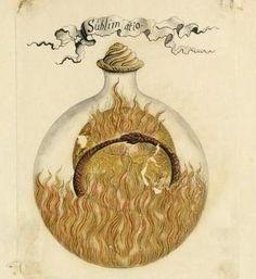 Alchemy:  Sublamatio - Manly Palmer Hall alchemical manuscripts. An #Alchemy artwork.