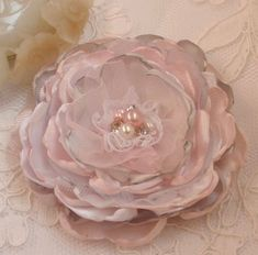 Größere Handmade versengt Blume mit Perle und Strass von Mydesign63