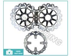 Full Set Front+Rear Brake Disc Rotor For HONDA VFR800 INTERCEPTOR 98-09 99 00 01 2002 2003 2004 2005 2006 2007 2008 2009 VFR 800 $259.00