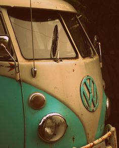 Volkswagon Camper Bus by lydiafairy.   My dad use to drive one of these around and live in it. :)  makes me so happy!