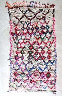 Moroccan rug at Pink Rug Co. https://www.etsy.com/listing/186075451/spirit-free-flow-7x4-boucherouite-rug