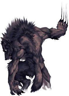 Mythical Creatures Art, Weird Creatures, Fantasy Creatures, Werewolf Girl, Scary Art, Fantasy Illustration, Dragon Art, Medieval Fantasy, Creature Design