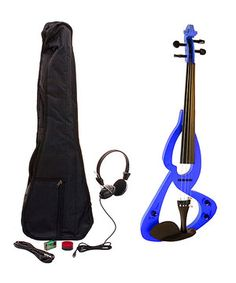 This electric violin creates sound through the included headphones, ensuring sound stay contained. A stylish design is eye-catching and attractive.