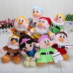 Barato 8 pcs 8 polegada de pelúcia branca de neve e os sete anões boneca de brinquedo de presente do bebê para crianças kid toys, Compro Qualidade Bonecas diretamente de fornecedores da China: 8 pcs 8 polegada de pelúcia branca de neve e os sete anões boneca de brinquedo de presente do bebê para crianças kid toys