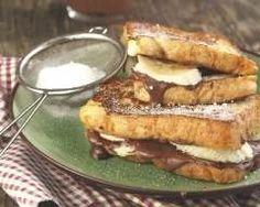 Croques chocolat et banane (facile, rapide) - Une recette CuisineAZ