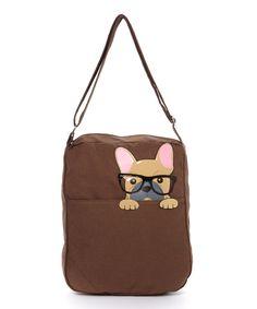 Love this Brown Nerdy Bulldog Crossbody Bag by Sleepyville Critters on #zulily! #zulilyfinds